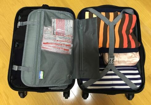【画像】スーツケースの詰め方!衣類は『丸める・重ねる』が鉄則