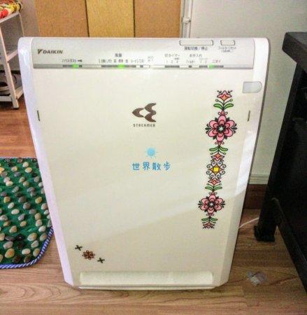 中国で変圧器を使っている空気清浄機
