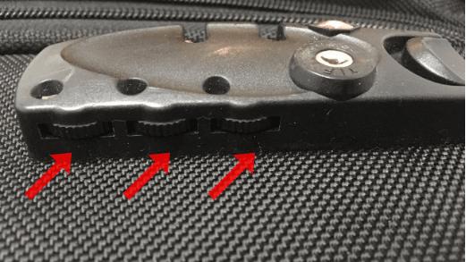 ダイヤル式は歯車の下を確認