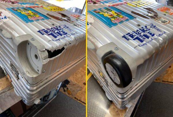 スーツケースの修理例