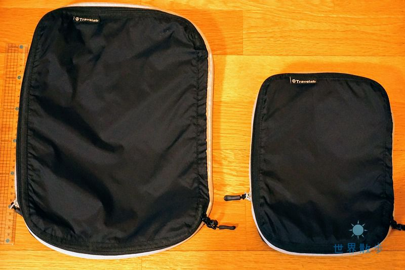 SサイズとLサイズのトラベラブ圧縮バッグ