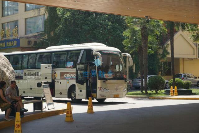 ジャングオホテルからの空港バス