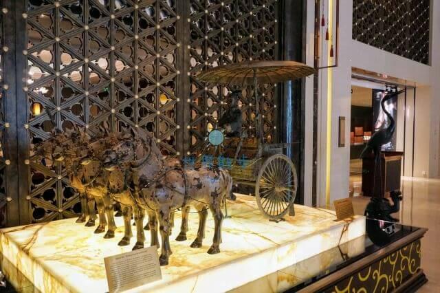ヒルトン西安にある兵馬俑のレプリカ