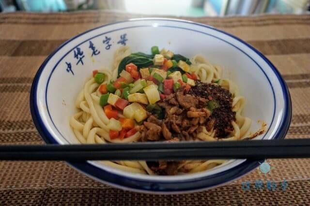 岐山臊子面の料理