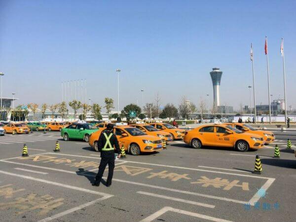 西安空港のタクシー