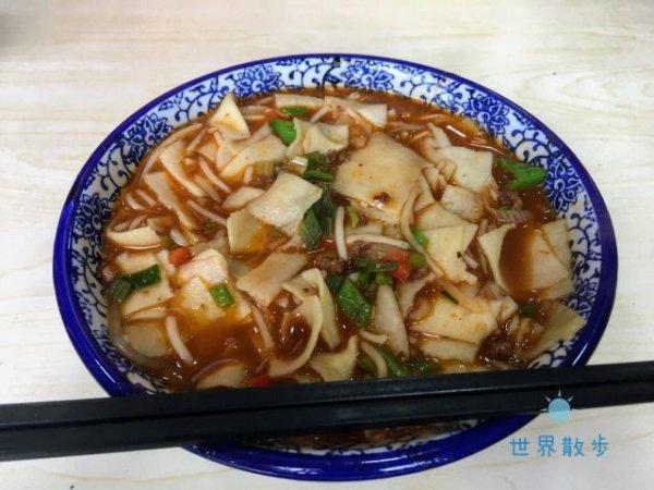 中国西北地区の名物・炒面片