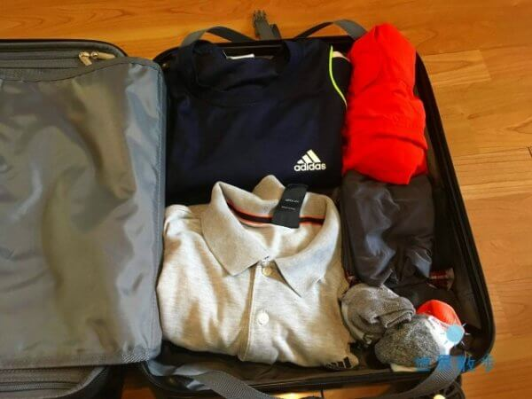 スーツケースのパッキング