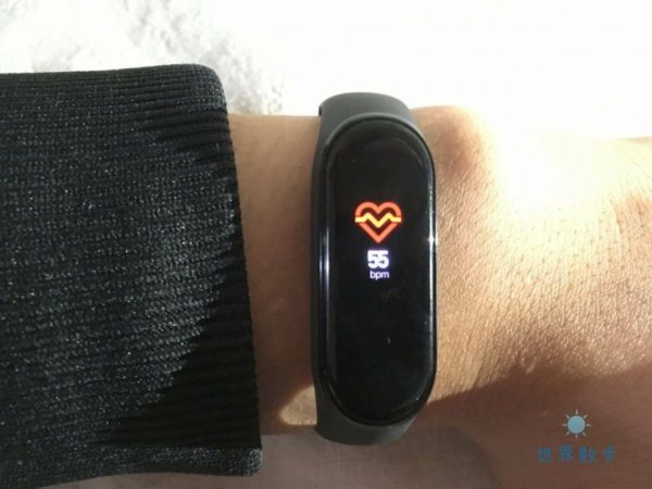 Mi Band 4で心拍数の計測