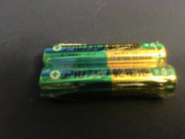 アルカリ乾電池は飛行機OK