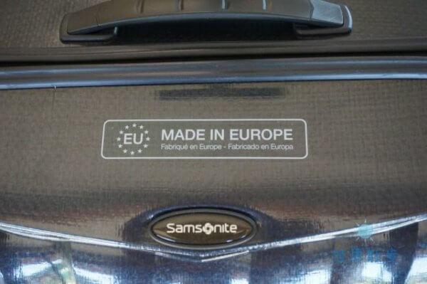 サムソナイトはヨーロッパ製