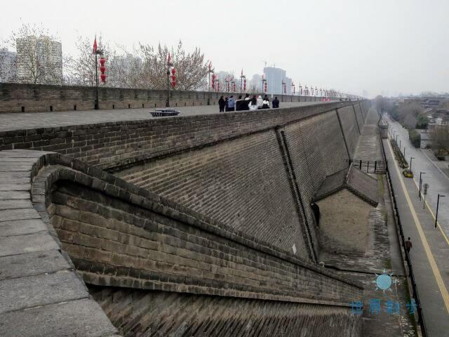 西安の城壁の様子