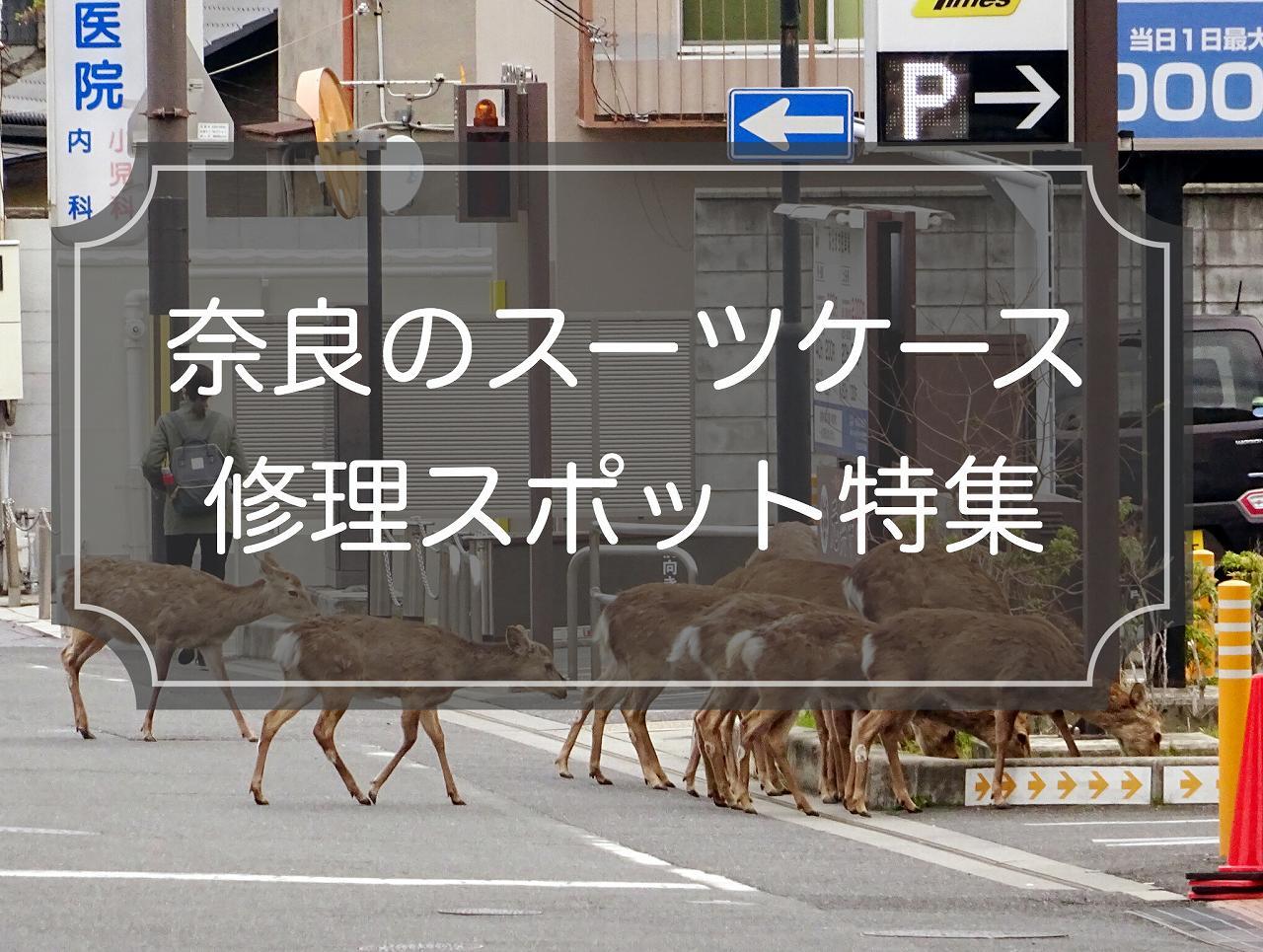 奈良のスーツケース修理スポット