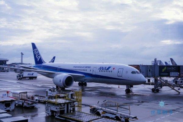 成都空港到着のANA機