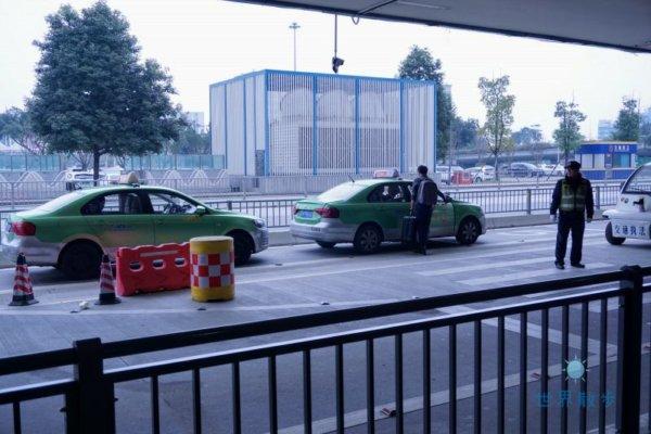 成都空港のタクシー2
