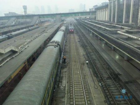 中国の駅からの眺め