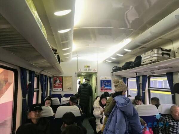 中国の列車の座席