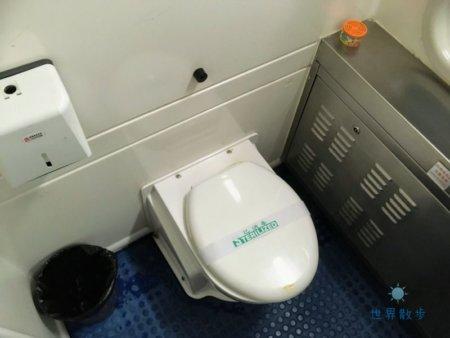 中国の寝台車の洋式のトイレ