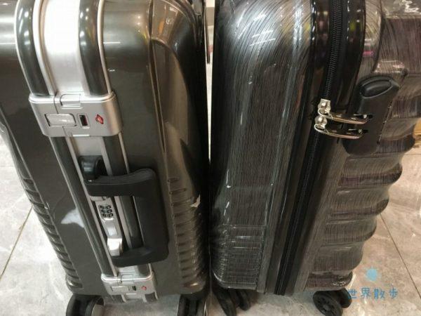スーツケースのファスナータイプとフレームタイプ