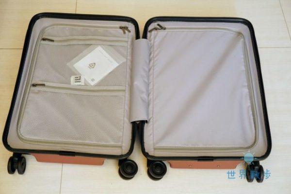 シャオミのスーツケース内装