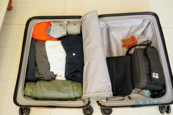シャオミのスーツケースでパッキング