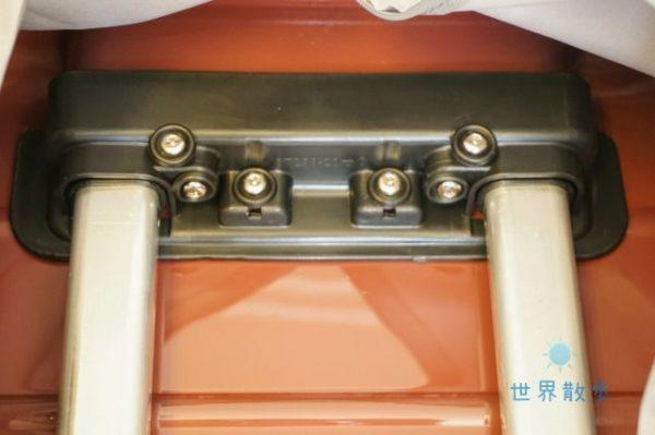 シャオミのスーツケースの内部