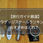 使用レビュー ラゲッジスケールのおすすめ5選ランキング【現役ガイド厳選】