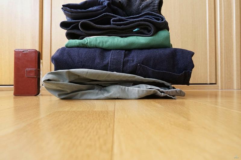 衣類を畳んだ状態