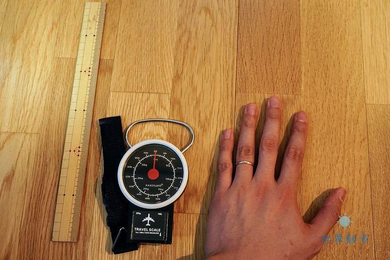 KIKKERLANDのアナログラゲッジスケールのサイズ