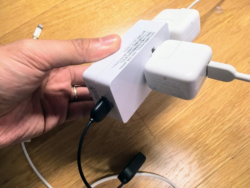 3つのデバイスまで同時充電可能