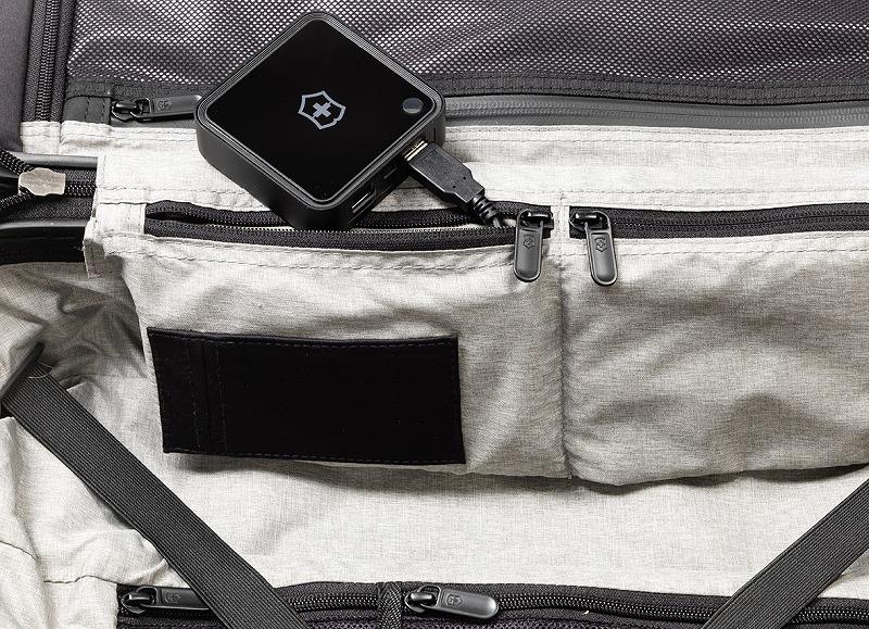 ビクトリノックスのスーツケース内装