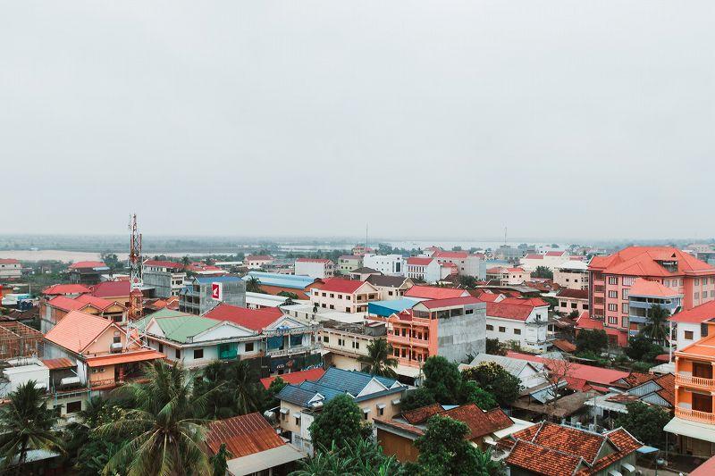 カンボジアの町並み
