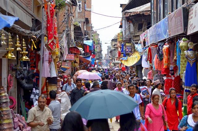 ネパールの町中の様子