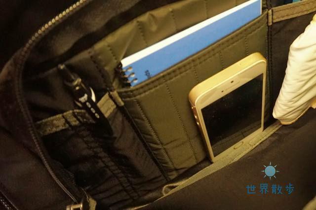 グレゴリーカバートミッションデイの前面ポケット